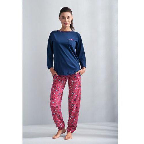 Piżama Luna 587 dł/r M-2XL XL, szary, Luna, 1 rozmiar