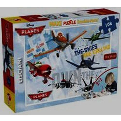 Lisciani Puzzle dwustronne maxi 108 planes-liscia bpz