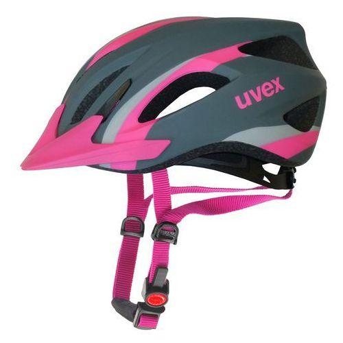 Kask rowerowy viva 2 m 52-57 cm szary/różowy matowy marki Uvex