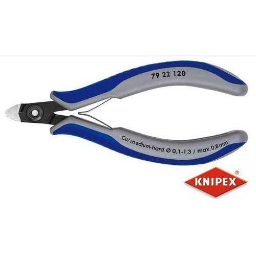 KNIPEX Precyzyjne obcinaczki dla elektroników 120mm, dwukomponentowe (79 22 120) (4003773061427)