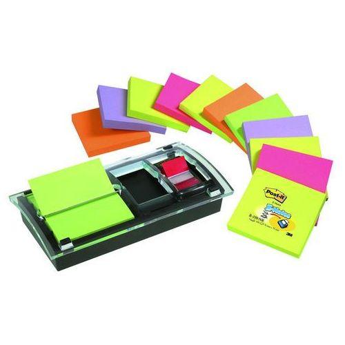 3m Zestaw promocyjny post-it® z-notes (ds100-vp), podajnik combi-millenium+12 bloczków+zakładka