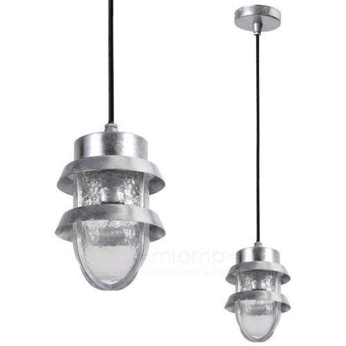 Zewnętrzna LAMPA wisząca TIVOLI 6634/G Italux ogrodowa OPRAWA metalowy ZWIS industrialny na taras outdoor IP44 srebrny, 6634/G
