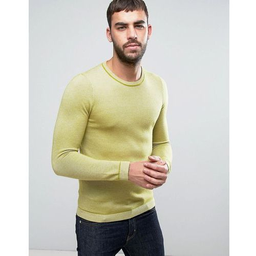Ted Baker Long Sleeve Textured Crew Neck Knit - Yellow