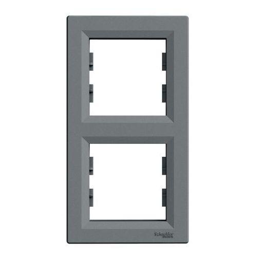 Schneider electric Ramka podwójna asfora pionowa stal (3606480730740)