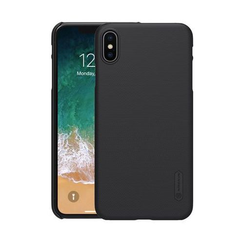 Etui Nillkin Frosted Apple iPhone XS MAX - Black - Black, kolor czarny
