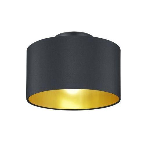 Plafon LAMPA sufitowa HOSTEL 608200279 Trio abażurowa OPRAWA okrągła pasteri czarna złota, 608200279