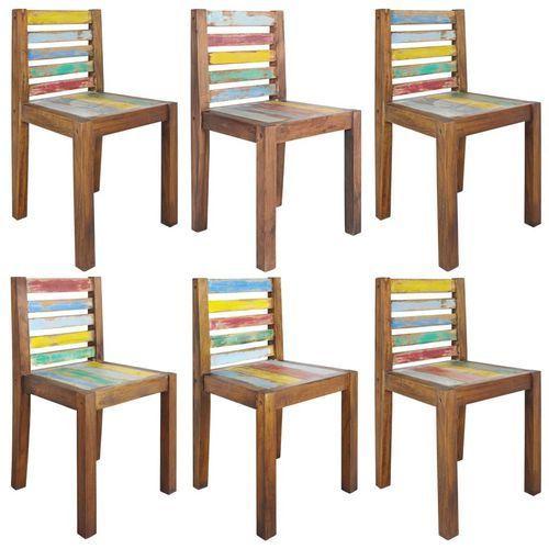 Krzesła z drewna odzyskanego z łodzi, 6 szt., 45 x 45 x 85 cm marki Vidaxl