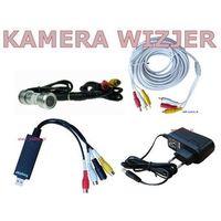 Monitoring klatki schodowej lub otoczenia przed drzwiami - kamera wizjer + konwerter usb- ZESTAW - oferta [55aedfaa4f137214]