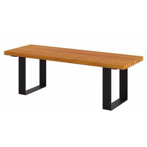 Miejska ławka bez oparcia 180 cm kasztan - Erika 3X, ławka_Lamar_180cm_kasztan