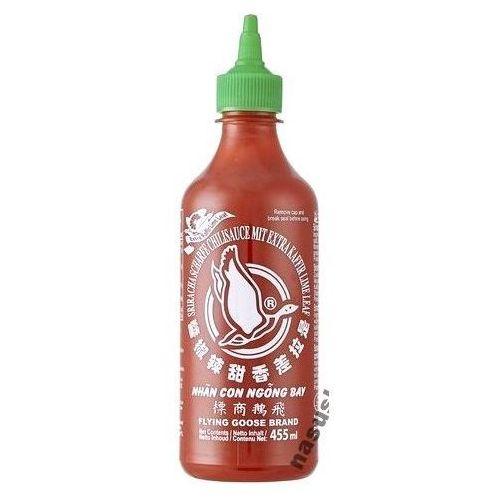 Sos chili Sriracha z liśćmi kaffiru, bardzo ostry (60% chili) 455ml - Flying Goose