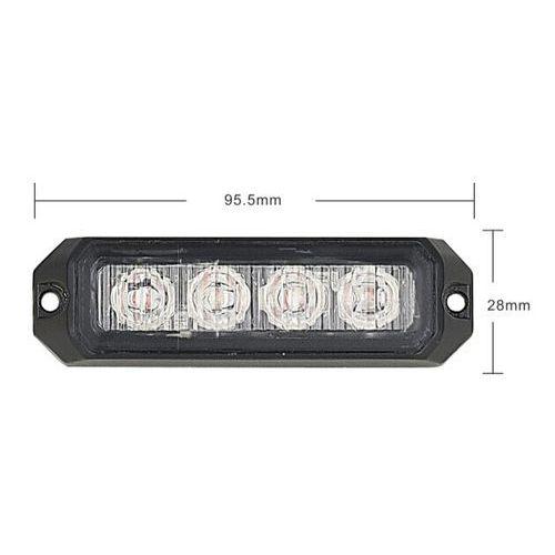 Lampa błyskowa-stroboskop LED, 12W, 12-24V, pomarańczowa, IP67 + Bezpłatna natychmiastowa gwarancja wymiany!, 11021