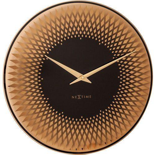 Zegar ścienny Sahara 43 cm Nextime kolor miedziany (8186 CO) (8717713021384)