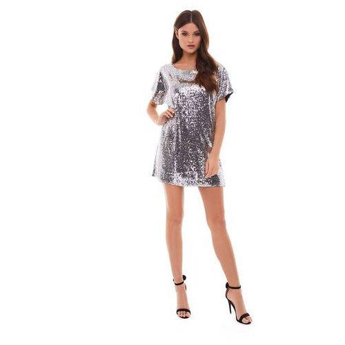 Sukienka sagitta w kolorze srebrnym, Sugarfree, 32-40