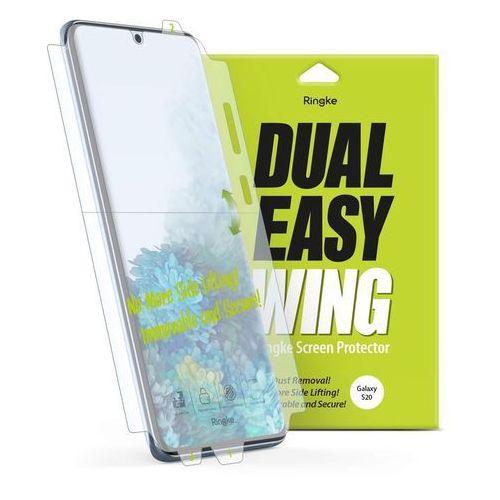 dual easy wing 2x łatwa w przyklejeniu folia na ekran i boki samsung galaxy s20 (dwsg0003) marki Ringke