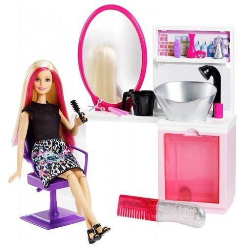 Lalka Barbie Brokatowy salonik fryzjerski (blondynka)