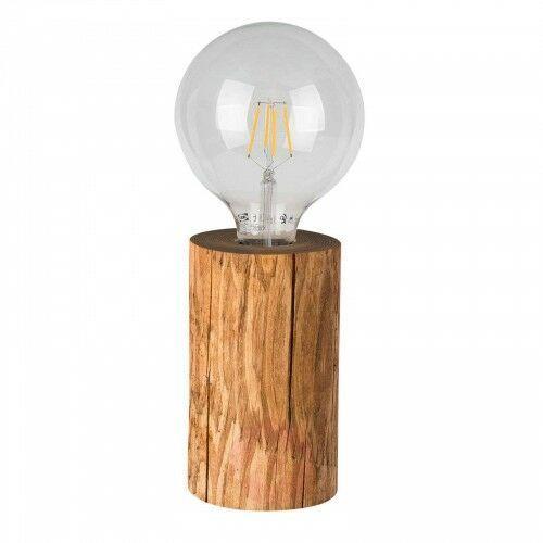 Lampa stołowa trabo, drewno sosny bejcowane, 15cm marki Spot-light
