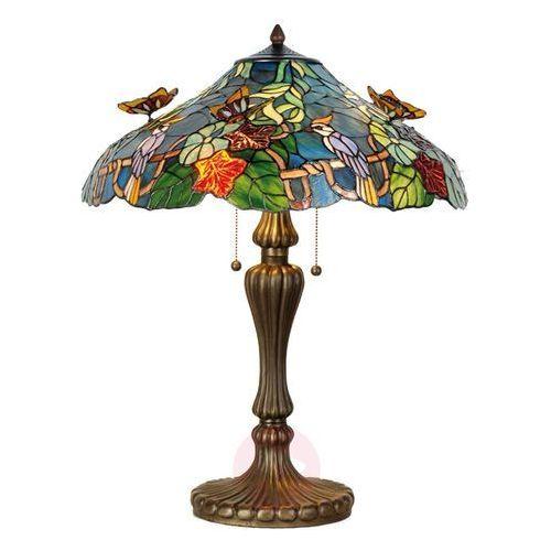 Kunsztowna lampa stołowa Australia styl Tiffany