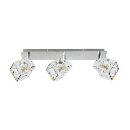 apollo kr 388-3l listwa 3x40w e14. chrom, kryształowy, szklany klosz marki Krislamp