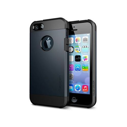 Spigen Etui tough armor iphone se/5s/5 wielokolor - grafitowy (8809353617819)