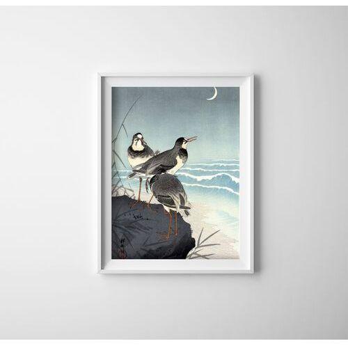 Vintageposteria.pl Plakat do pokoju plakat do pokoju fale i półksiężyc ohara koson ukiyo