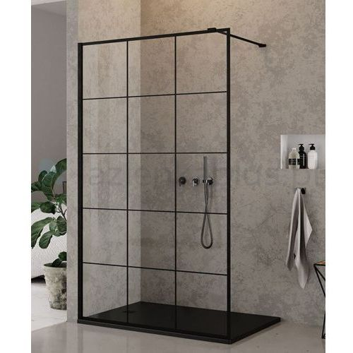ścianka prysznicowa 110cm czarne profile new modus black exk-0246 * wysyłka gratis marki New trendy