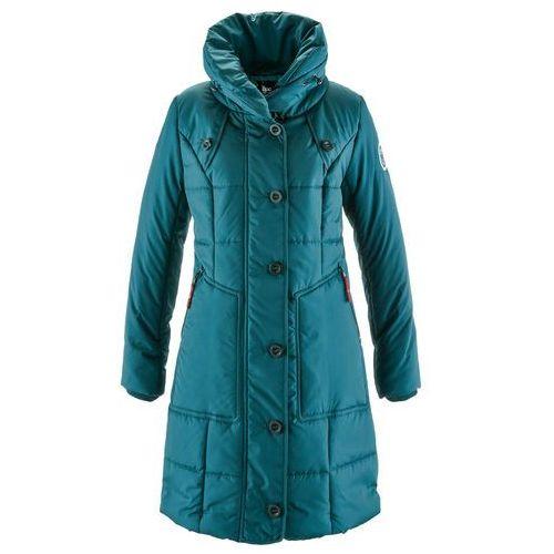 Płaszcz pikowany bonprix niebieskozielony, 1 rozmiar