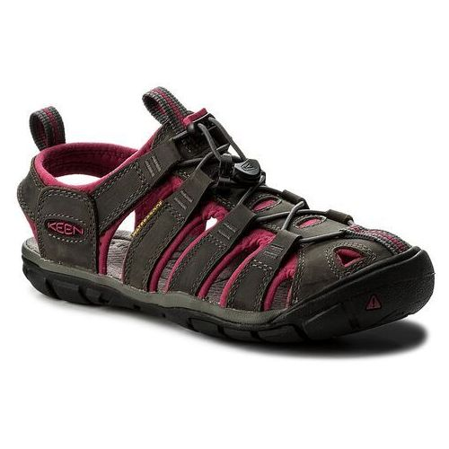 Keen Sandały - clearwater cnx leather 1014370 magnet/sangria