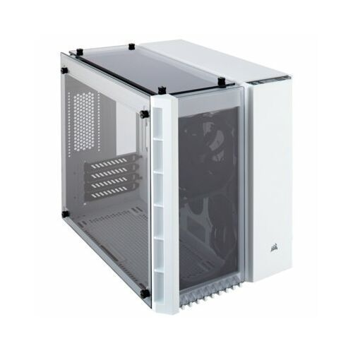 Corsair Crystal 280X RGB TG - White - Obudowa komputerowa - Minitower - Biały