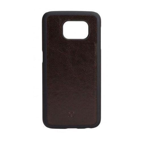 Etui XQISIT Iplate Eman do Galaxy S6 Brązowy, kolor brązowy