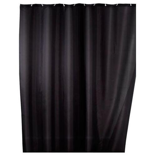 Wenko Zasłona prysznicowa, tekstylna, kolor czarny, 180x200 cm,