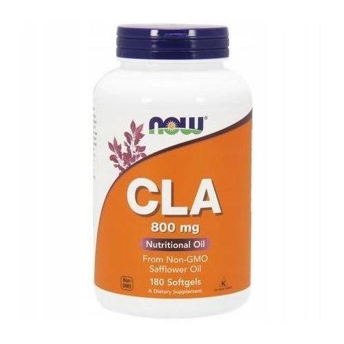 CLA 800 mg 180 kapsułek NOW FOODS