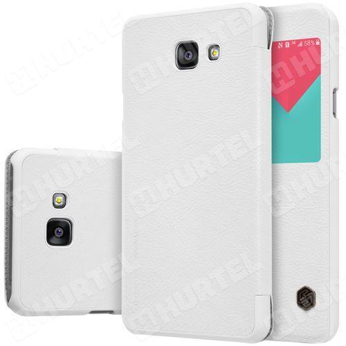 NILLKIN Qin skórzana kabura etui Samsung Galaxy A5 2016 A510 biała - Biały (Futerał telefoniczny)