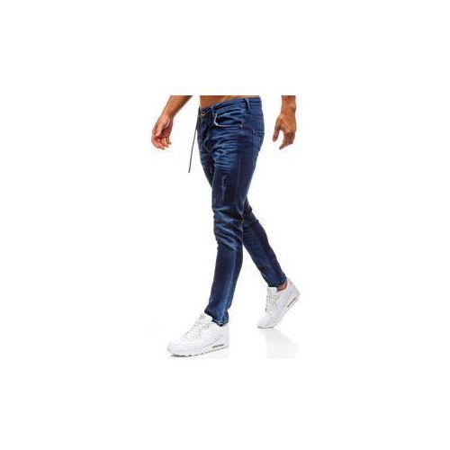 Breezy Spodnie jeansowe męskie granatowe denley 8037