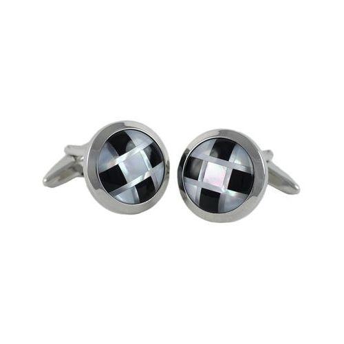 Spinki do mankietów SGC-6095, kolor srebrny;srebrny
