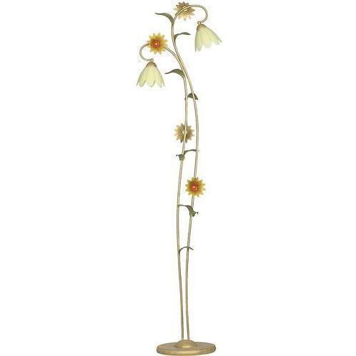 Luminex Lampa podłogowa oprawa stojąca słonecznik 2x60w e27 złoty/krem 4699