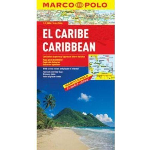 Karaiby. Mapa samochodowa, składana 1:2 500 000. Marco Polo (2 str.)
