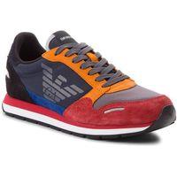 Sneakersy EMPORIO ARMANI - X4X215 XL200 A100 Scarlet/Prus.Blu/Blk, kolor wielokolorowy