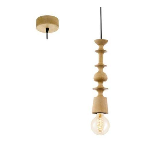 LAMPA wisząca AVOLTRI 49373 Eglo drewniana OPRAWA zwis geometryczne kształty brązowy, kolor Brązowy