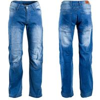 Męskie jeansowe spodnie motocyklowe davosh, niebieski, 4xl marki W-tec