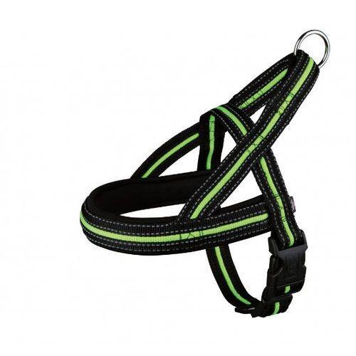 Trixie  szelki norweskie odblaskowe czarny/zielony rozm. m-l nr kat. 20662