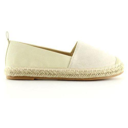 Espadryle damskie beżowe ff088 beige marki Buty obuwie damskie