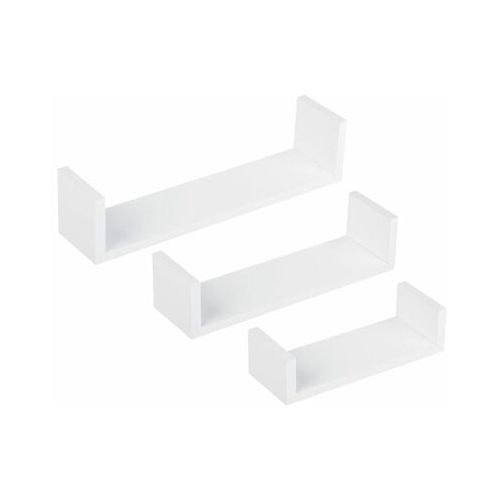 Duraline Zestaw 3 półek ściennych u białe (5903357390662)