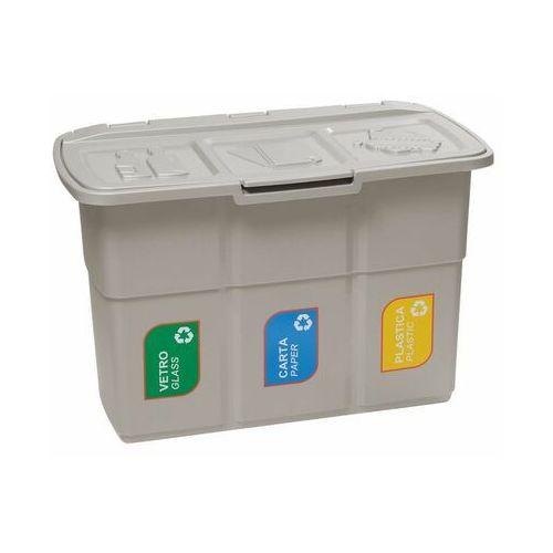 Kosz na śmieci ECOPAT 3 x 25 l MULTIM (8009371900492)