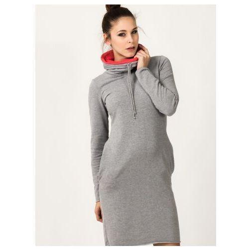 Sukienka Sukienka Model Kaja 9 Light Grey/Coral