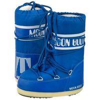 Śniegowce Moon Boot Nylon Electric Blue Kids 14004400075 (MB14-f), kolor niebieski