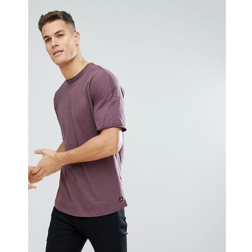Tom Tailor Boxy Fit T-Shirt With Dropped Shoulder In Purple - Purple