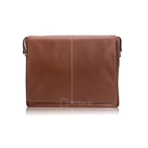 """Mcklein san francesco skórzana torba na ramię na laptopa 13,3"""" - brązowy (6421544535492)"""