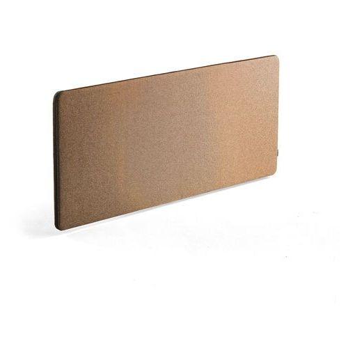 Aj produkty Wzmocniona ścianka biurkowa zip rivet, 1600x650 mm, miedziany, czarny suwak