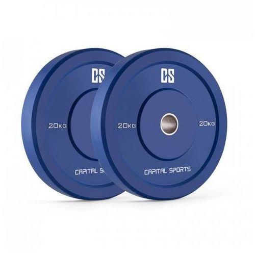 Nipton Bumper Plates Obciążniki Para 20kg Niebieskie Twarda guma