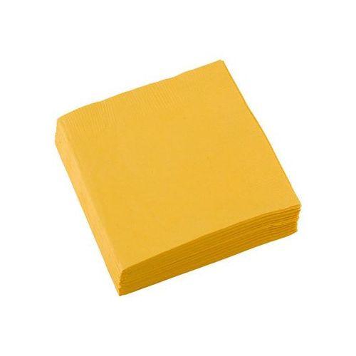 Amscan Serwetki ciemnożółte - 25 cm - 20 szt. (0013051271497)